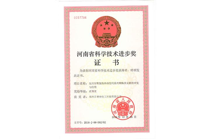 河南省科技进步二等奖